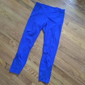 RARE Lululemon Goal Crushers Harbor Blue leggings